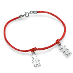 Mother's Bracelet with Engraved Children Charms