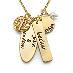 Gold Plated Family Tree Necklace