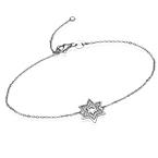 Star of David Bracelet with Cubic Zirconia