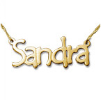 Tempus Style 14k Gold Name Necklace