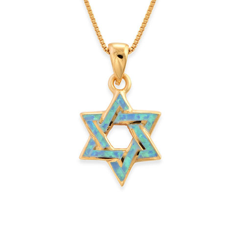 18K Gold Plated Intertwined Star of David Necklace