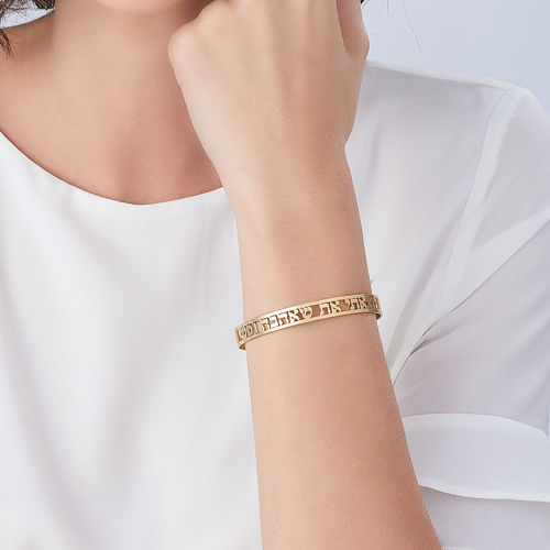 18k Gold Plated Bangle - 3
