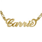 18k Gold Plated Carrie Name Necklace - Extra Thick