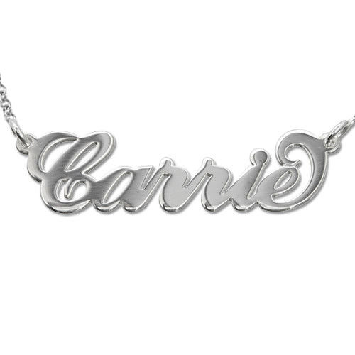 Carrie Style Silver Name Necklace