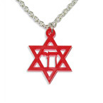 Chai inside Star of David Color Necklace