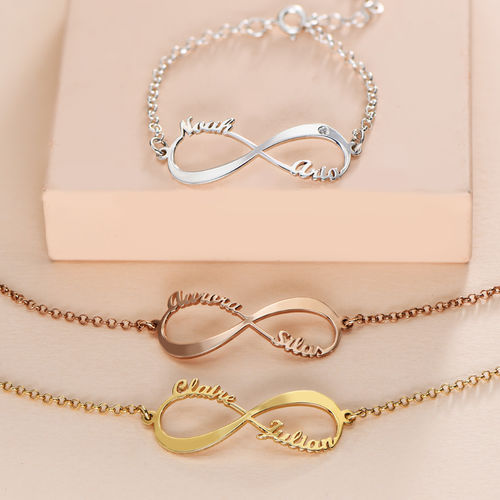 Infinity Bracelet with Names - 2