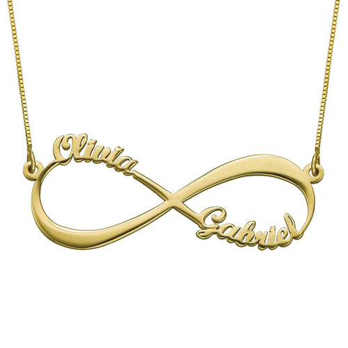 Infinity Name Necklace in 14K Yellow Gold