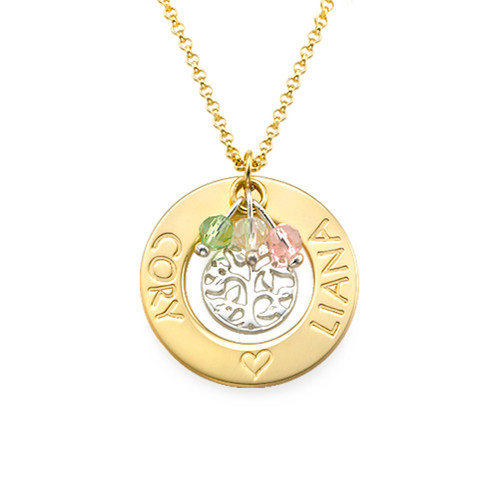 18k Gold Plated Necklace with Tree of Life