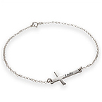 Side Cross Bracelet - Personalized