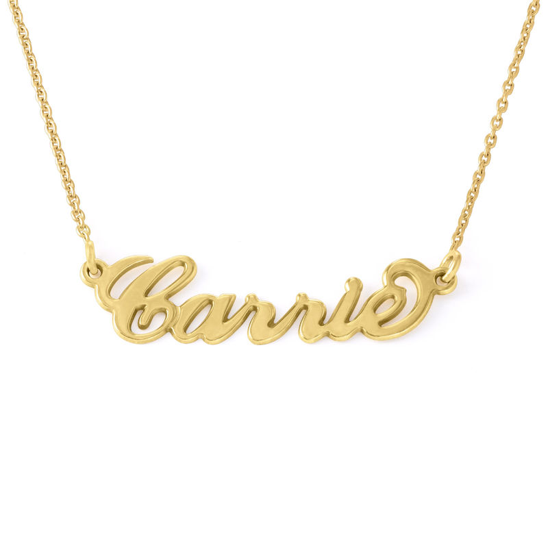 Small 18k Gold Plated Carrie Name Necklace