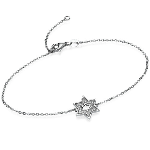 Star of David Bracelet with Cubic Zirconia