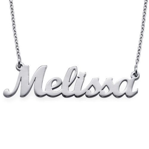Silver Script Name Necklace