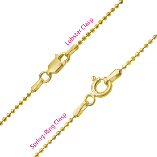 Two Hearts Forever One Necklace - 18k Gold Plated - 3