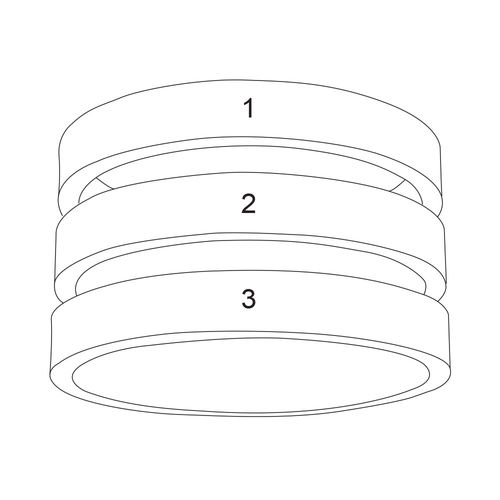 Three Name Ring in Silver - 4