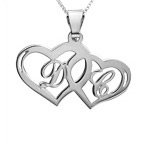 Silver Couples Hearts pendant