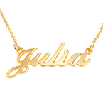 Small 18k Gold-Plated Silver Classic Name Necklace