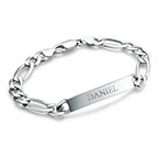 Sterling Silver Men's ID Bracelet